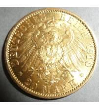 Германия. 20 марок 1910