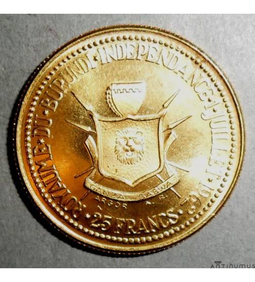Burundi. 25 francs 1962