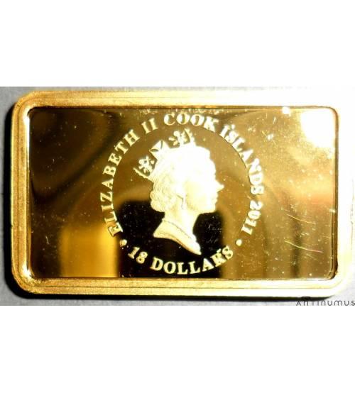 Cook Islands. 18 dollars 2011