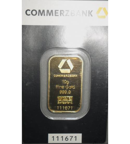Switzerland. Gold Bullion 10 g.