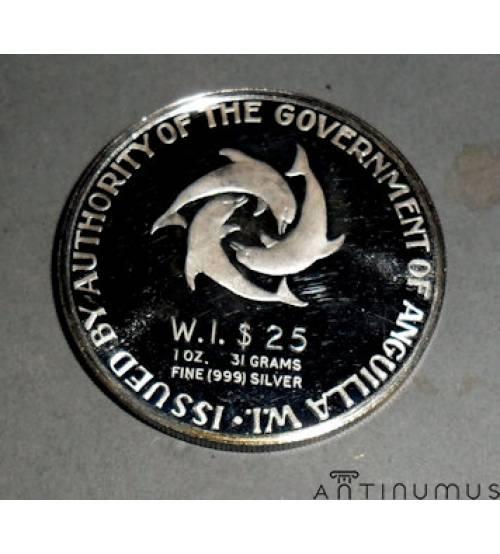 Ангилья. 25 долларов 1968