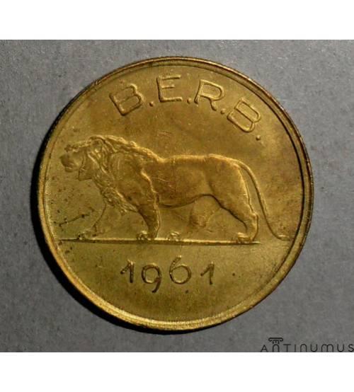 Руанда-Бурунди. 1 франк 1961