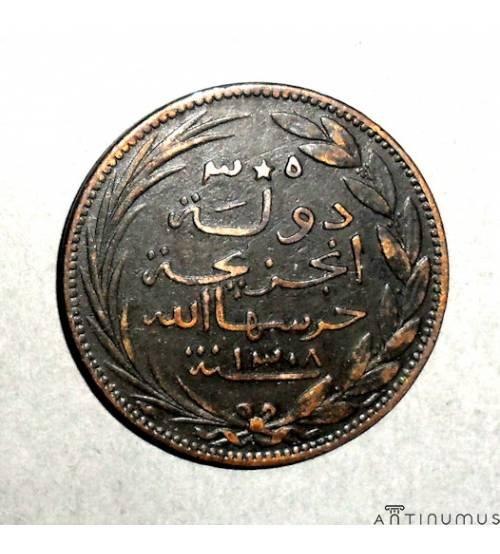 Анжуан. 5 сантимов 1891