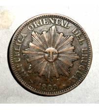 Уругвай. 4 сентесимо 1869