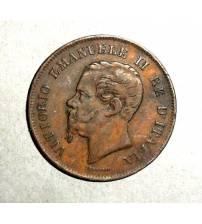 Италия. 5 чентезимо 1862