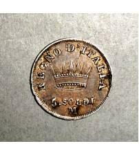 Королевство Италия. 5 сольди 1811