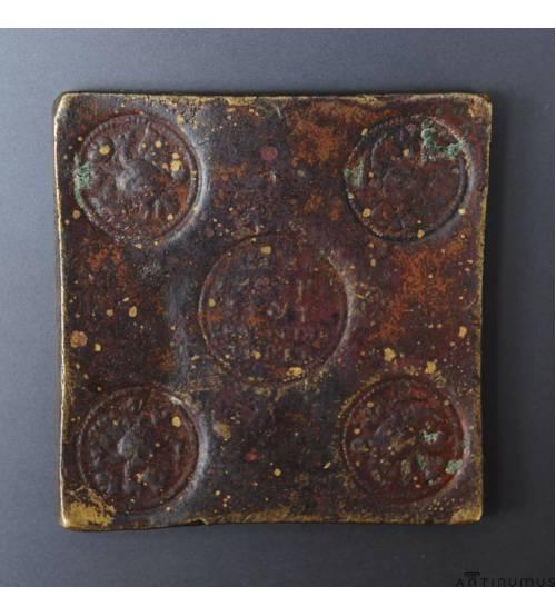 Ekaterina I. Grivna 1726. Square plate