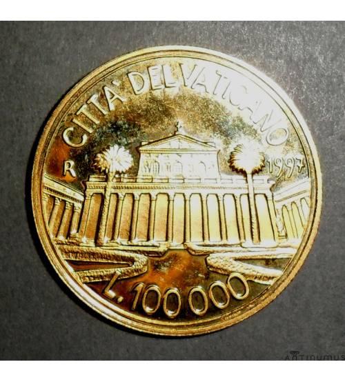 Ватикан. 100000 лир. 1997 г.