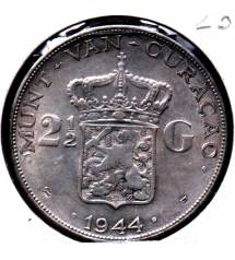 Curacao. 2.5 guilden 1944