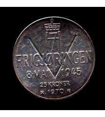 Norway. 25 kroons 1970